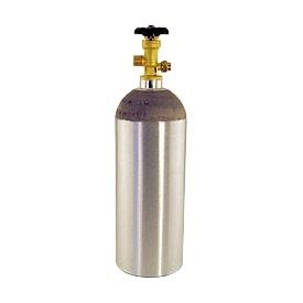 New Spun Aluminum CO2 Bottle (5 lb.) (Filled)